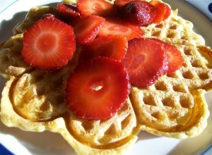 Blender-Batter Brown Rice Waffles or Pancakes - Quirky Cooking