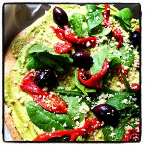 Avocado Topping for a Dairy Free Pizza - Quirky Cooking