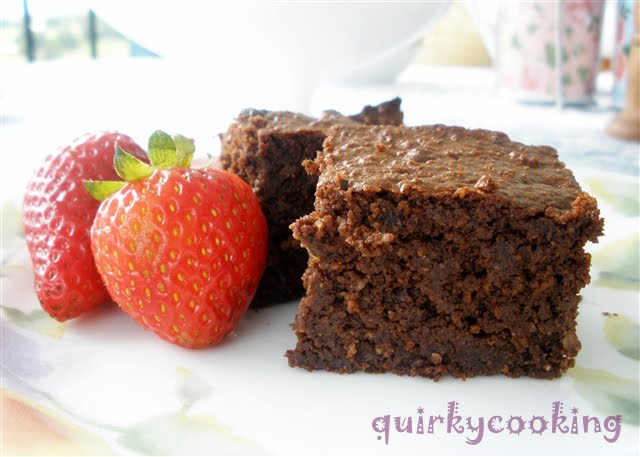Flourless Choc Hazelnut Brownies