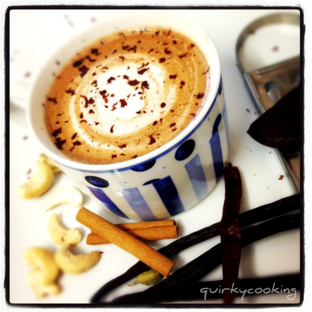 Chocolate chilli chai dairy free quirky cooking my daughter india and i love making chai in the thermomix with cashew milk forumfinder Choice Image