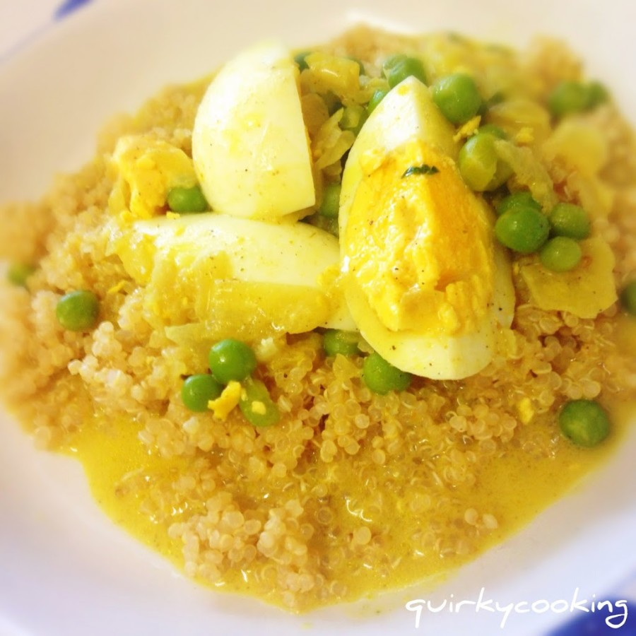 Quick Egg Curry with Quinoa