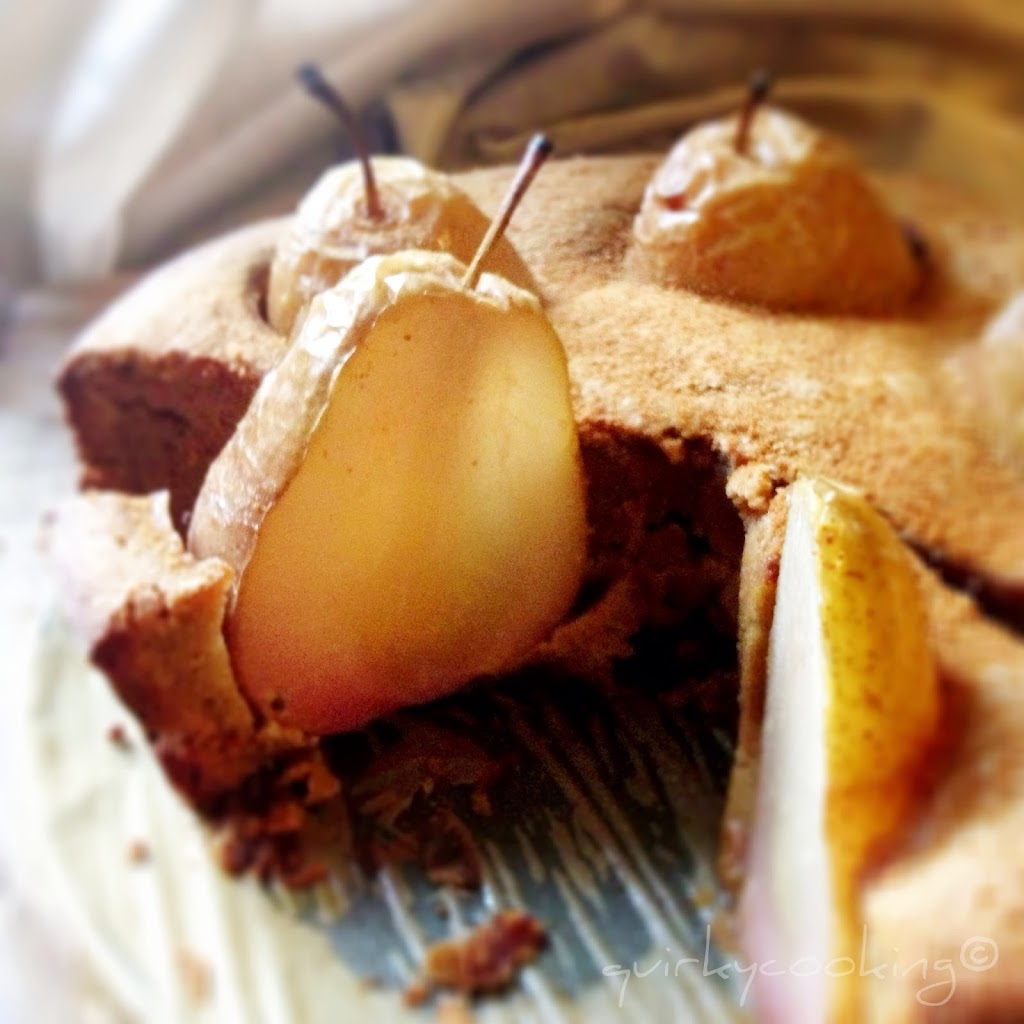 Quirky Cooking - Whole Poached Pear Cake