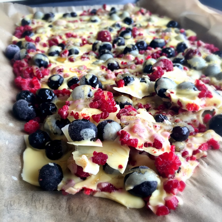 white chocolate berry bark dairy free quirky cooking