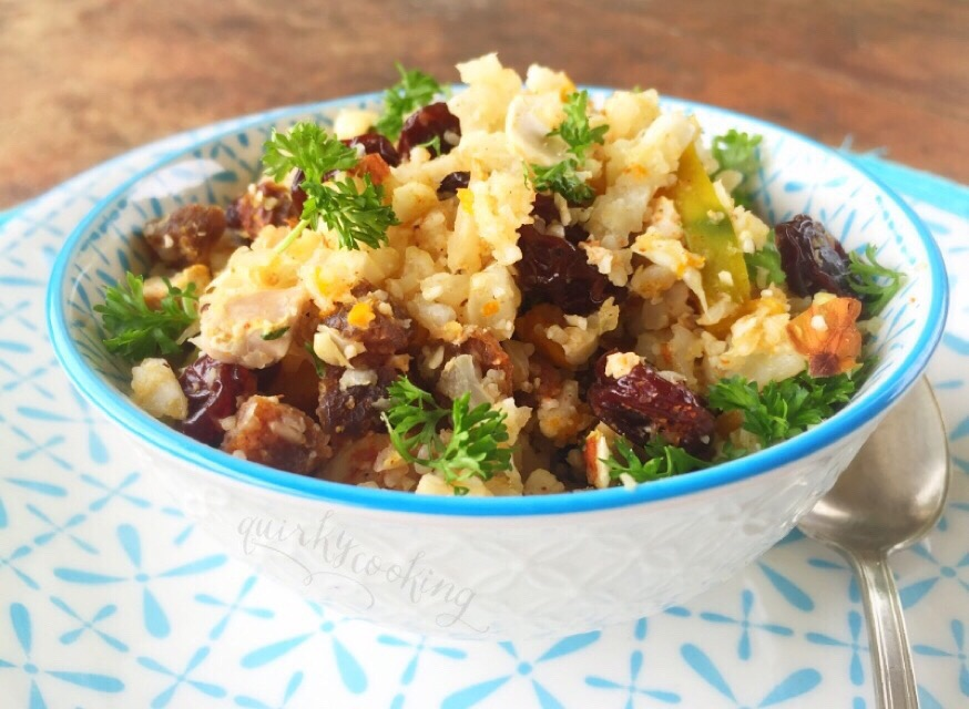Moroccan Cauliflower Cous Cous Salad, Quirky Cooking (GAPS & Paleo Friendly)