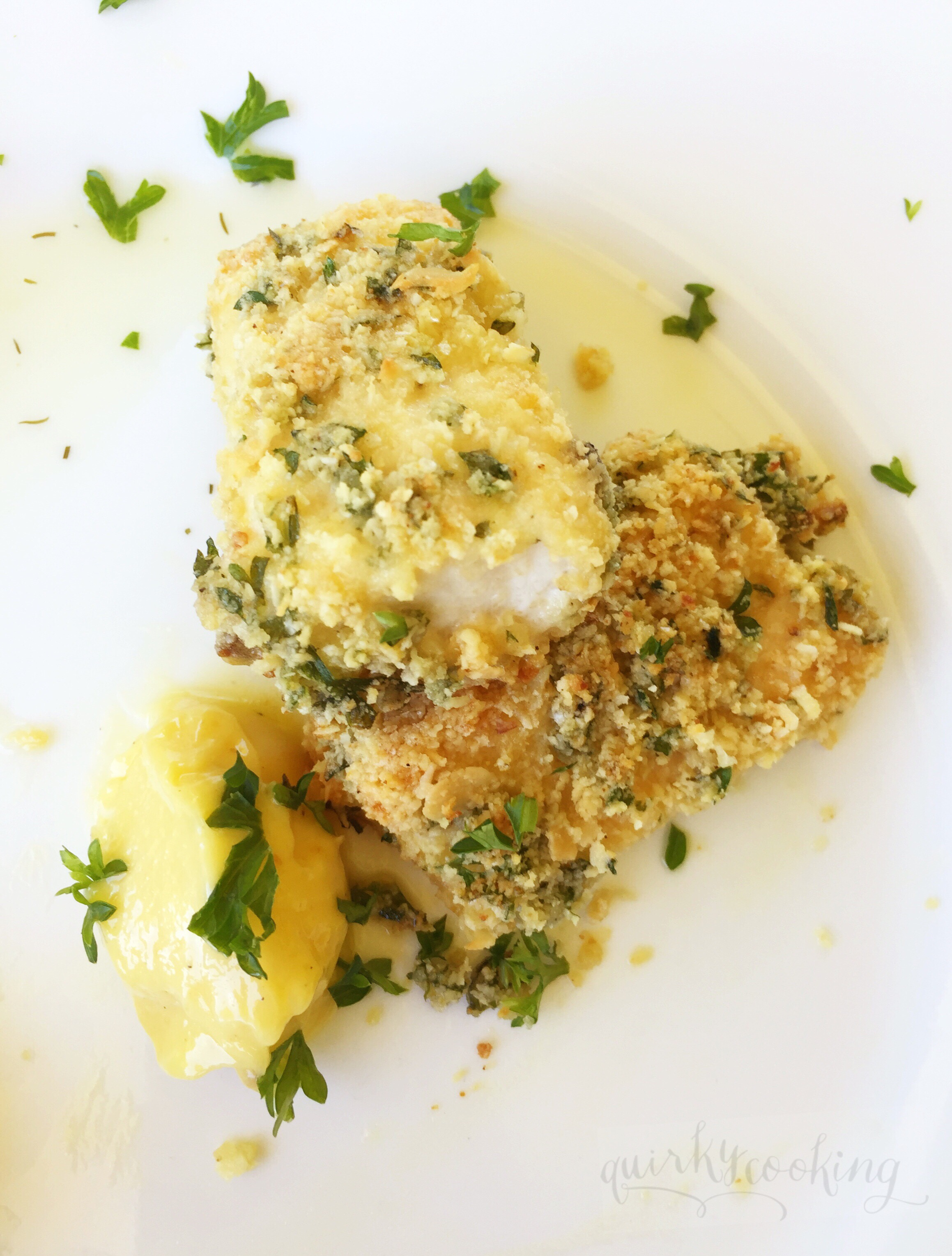Baked Fish Fingers (Grain Free), Quirky Cooking