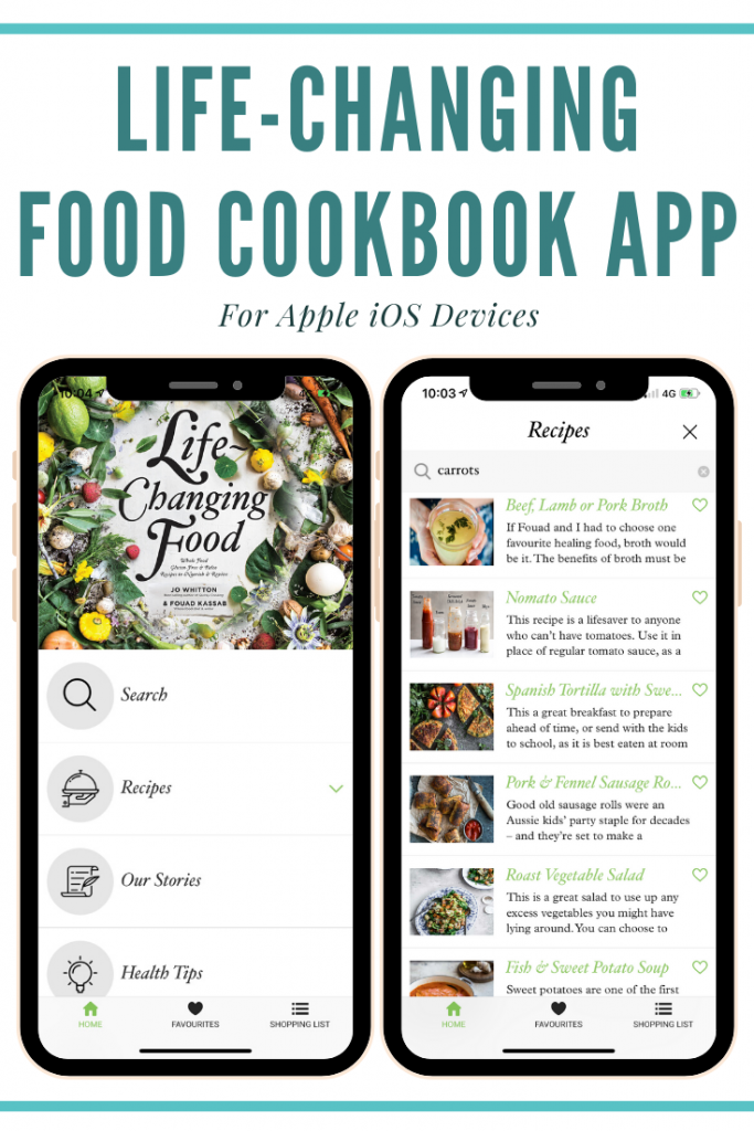 Life-Changing Food Cookbook iOS App