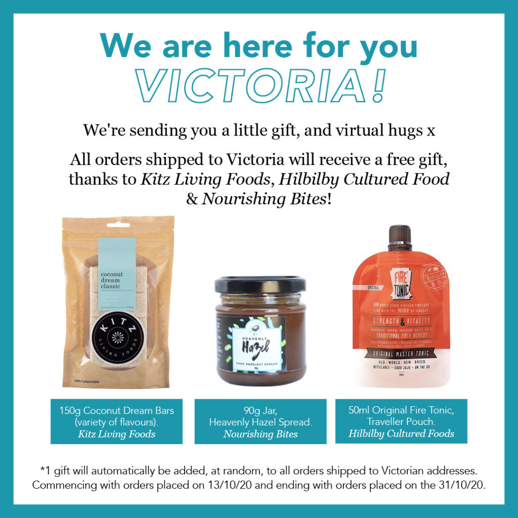 A free gift for Vic orders, Quirky Cooking store