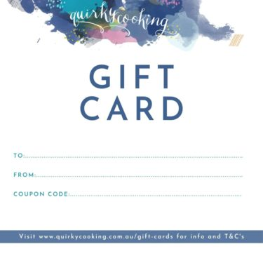 gift card, Quirky Cooking
