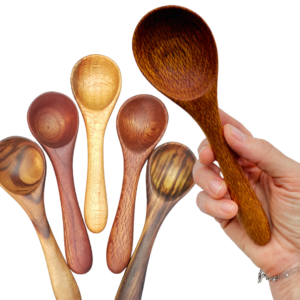 Quirky Cooking Hand~Crafted Small Wooden Spoons